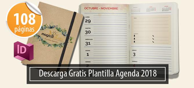43e07e5201936 Plantilla Gratis Agenda Diaria 2018