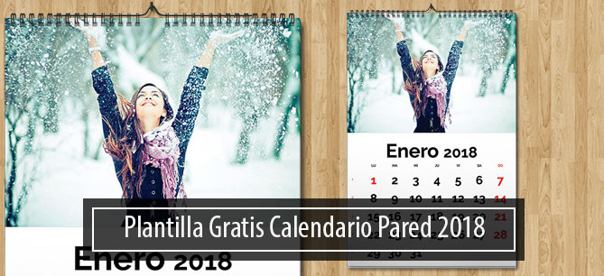 Plantilla Calendario 2018 Pared Gratis Magical Art Studio