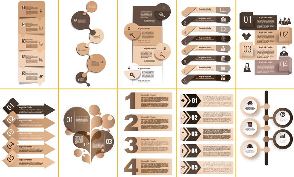 Próximamente iré compartiendo distintos packs con otros elementos gráficos  ideales para usarlos en el diseño de infografías 19ba45f18038