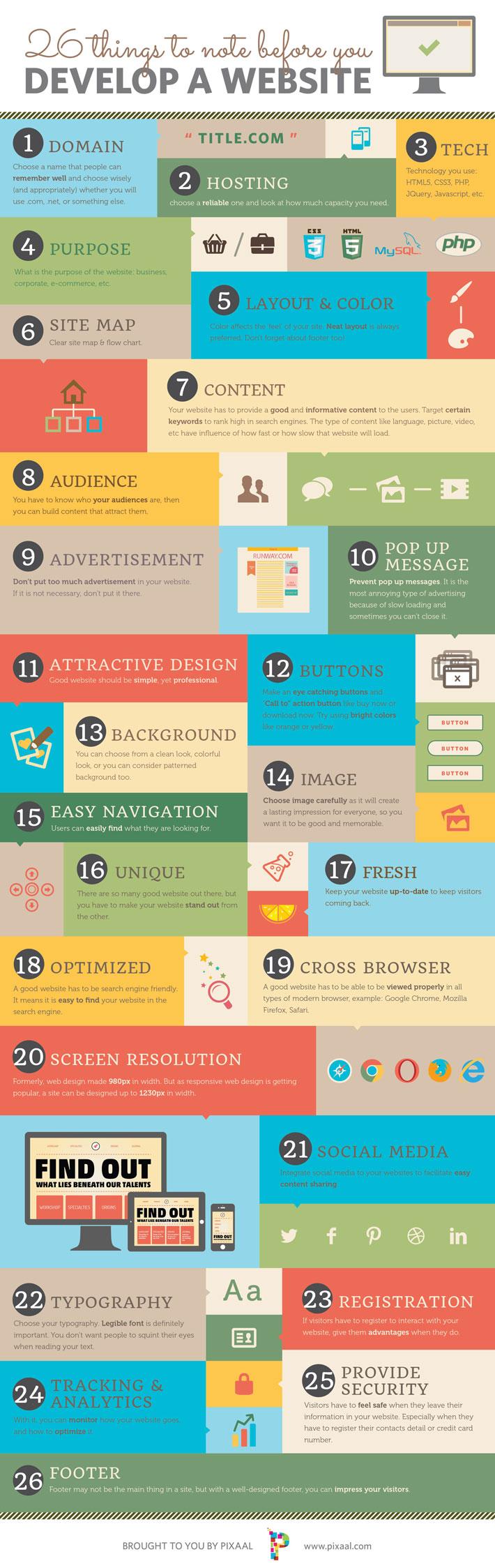 puntos importantes para diseñar una página web