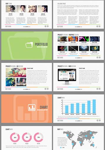 Presentación para empresas en powerpoint editables