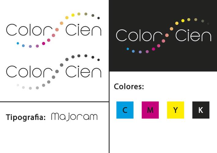 diseño de logotipo para color cien