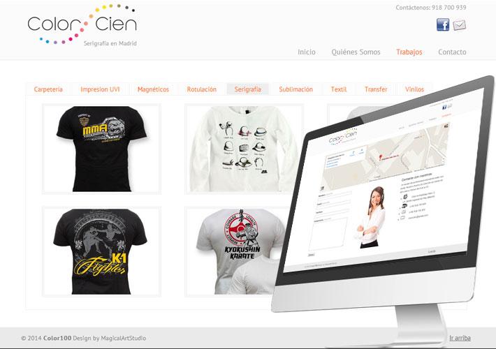 diseño de página web para serigrafia madrid