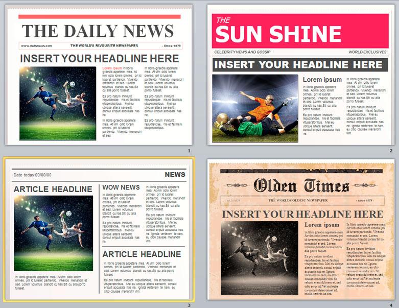 Plantillas de Periódicos Editables en PowerPoint Gratis | Magical ...