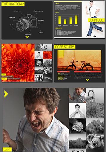 Presentación PowerPoint para fotografos plantilla editable