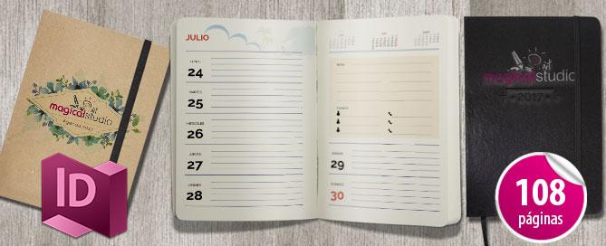 Calendario Indesign.Plantilla Calendario Agenda Diaria 2017 Magical Art Studio