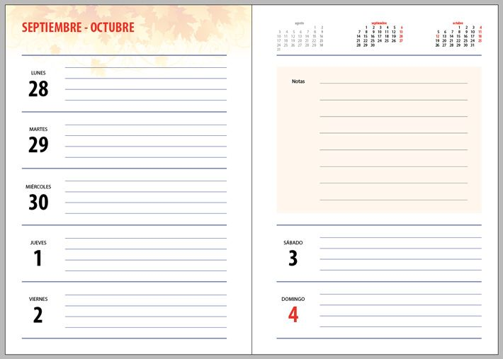 descarga plantilla editable Agenda 2015