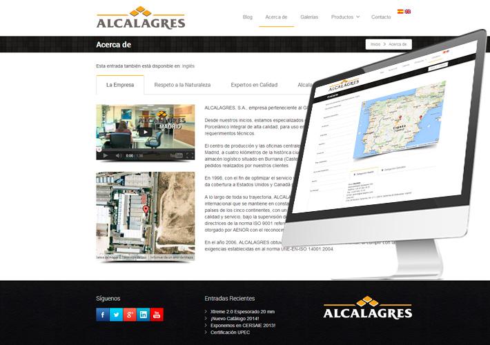 Diseño de blog profesional para Alcalagres