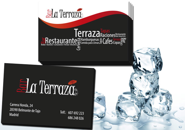 tarjetas de visita bar la terraza