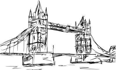 boceto de un puente