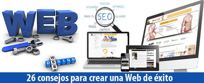 como crear una pagina web de éxito