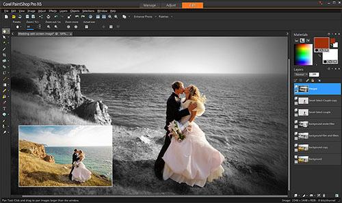 programa edición fotos PaintShop ProX9
