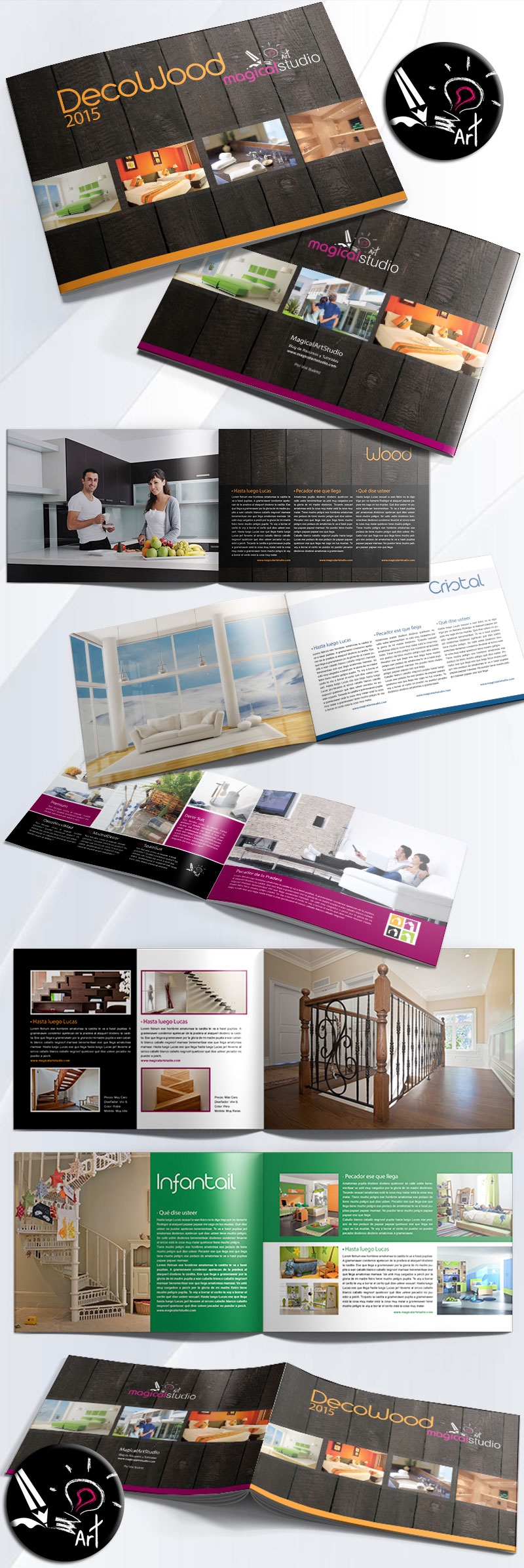 Descarga Plantilla Catálogo Indesign | Magical Art Studio