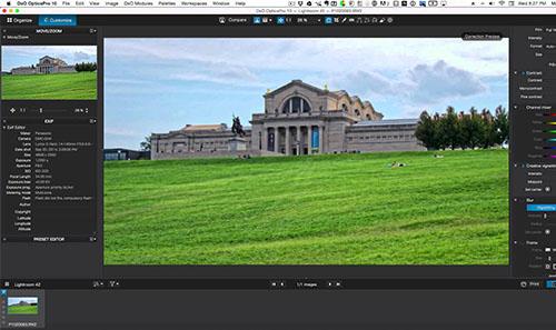 programa edición fotos DxO OpticsPro