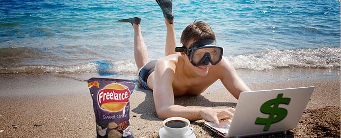 freelance-trabajando-playa