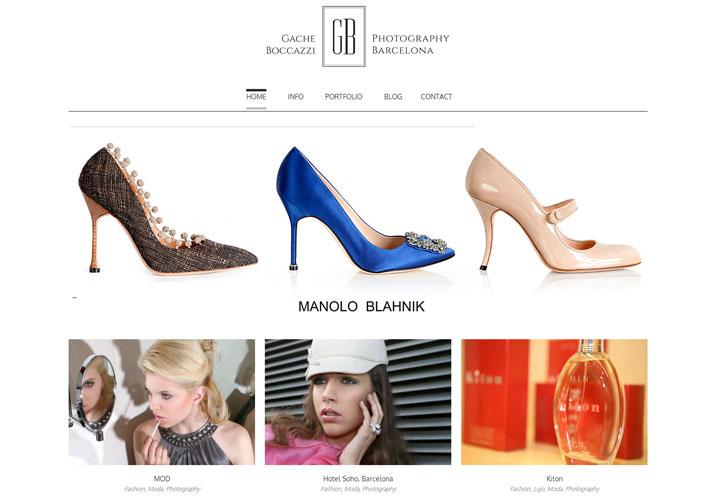 captura de pantalla de la pagina web Gache Boccazzi