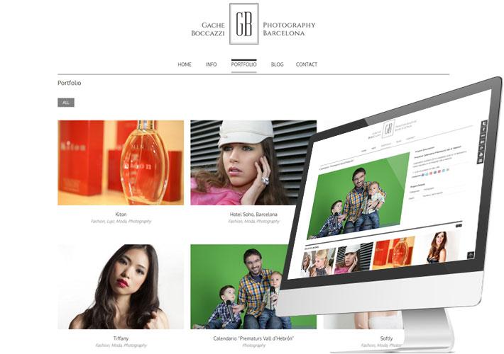 captura de la pagina web de la fotografa gache boccazzi