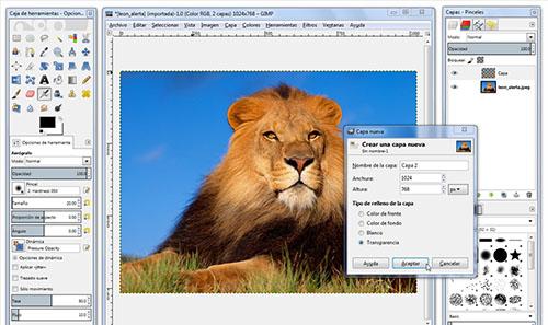 programa edición fotos Gimp