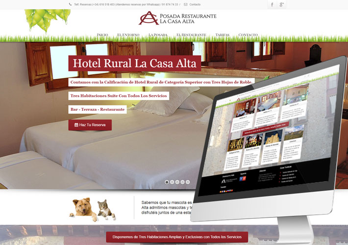 diseño web hotel rural