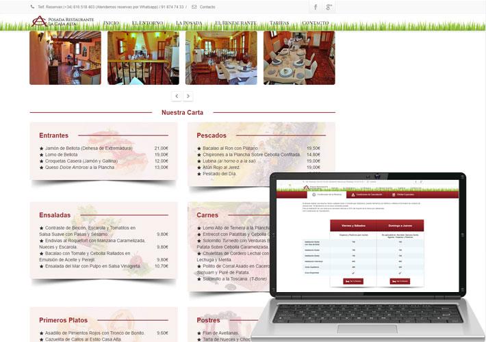 Diseño de página web para hotel rural Madrid