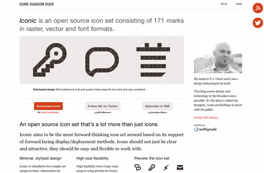 pagina de descarga de iconos para web iconic