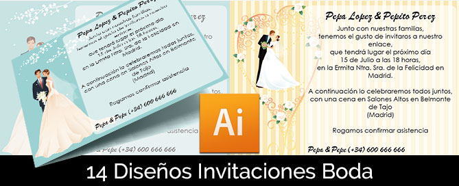 Plantillas Invitaciones De Boda Gratis Magical Art Studio