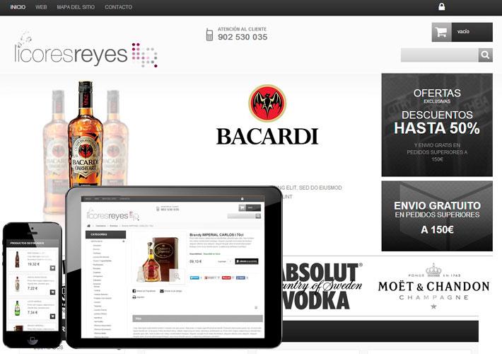 diseño de tienda online para licores reyes