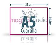 diseño e impresión de cuartillas A5