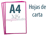 diseño e impresión de hojas de carta A4