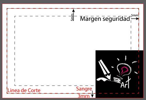 caso practico de sangrado y margenes de documento pre-impresión