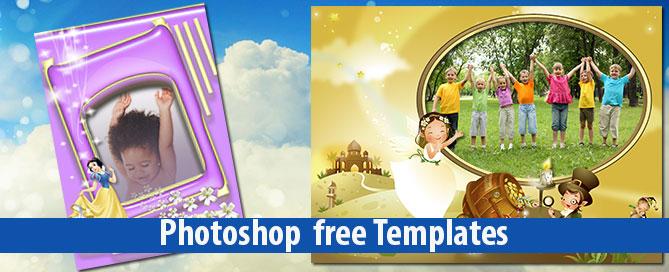 34 Plantillas Infantiles Personalizables En Photoshop GRATIS | Magical Art  Studio