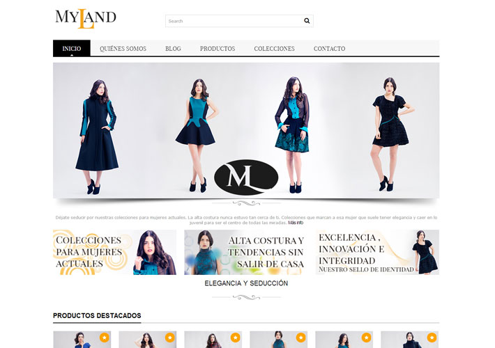 captura de pantalla de la web myland fashion