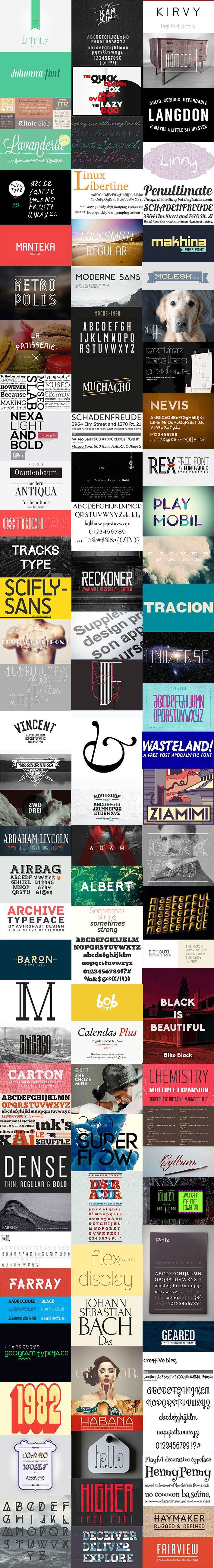 pack de tipografías gratuitas