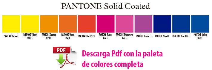 descarga paleta completa pantone solid coated