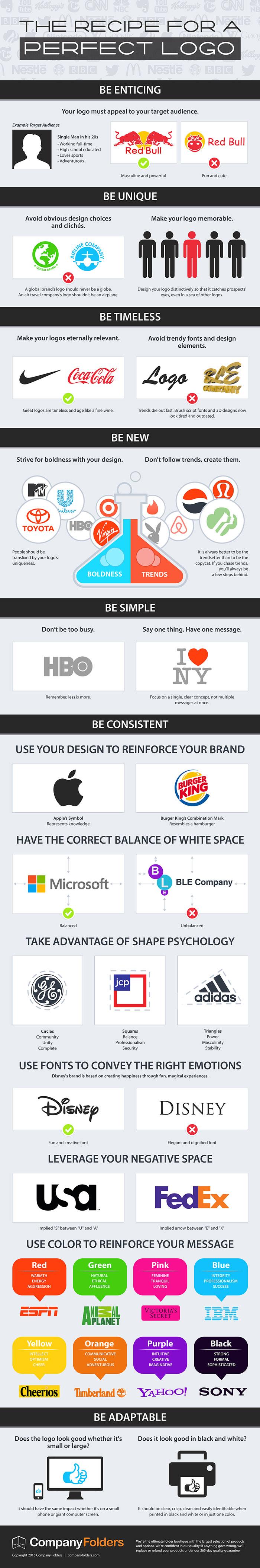 infografia diseña un logo perfecto