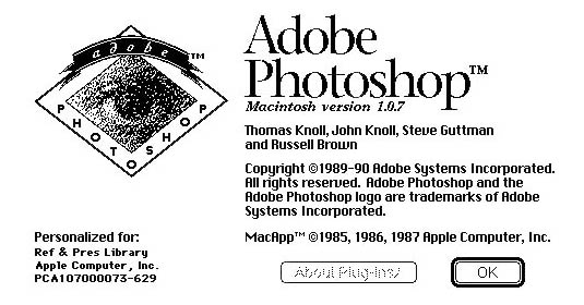 como era adobe photoshop 1