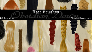 Hair brushes, pinceles pelo photoshop