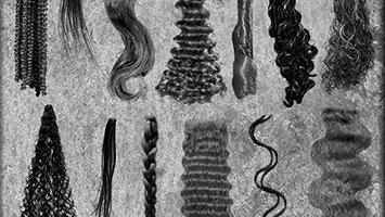 pinceles cabello para photoshop