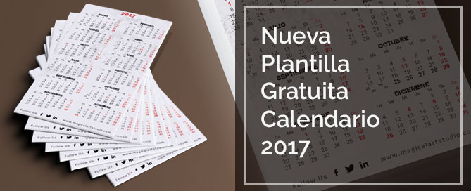 Calendario Indesign.Plantilla Calendario Bolsillo 2017 Indesign Magical Art Studio