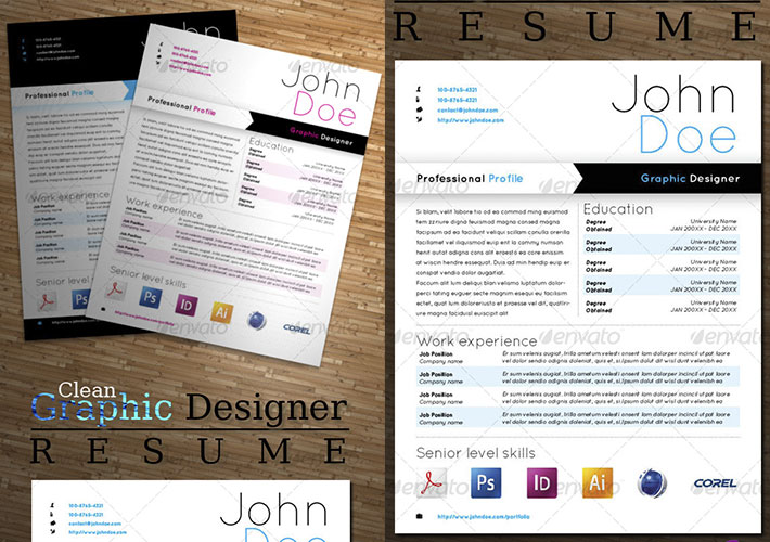 plantilla cv creativo para indesign
