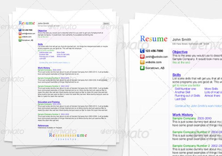 cv creativo tipo google