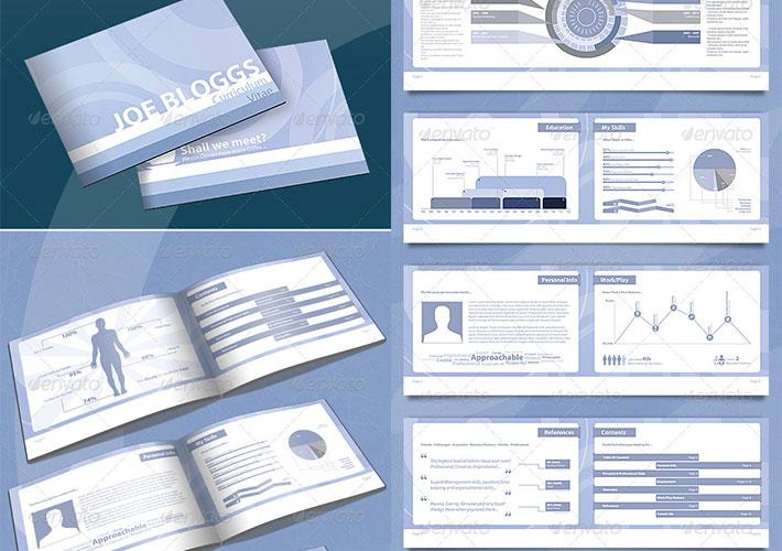 plantilla tipo book para cv