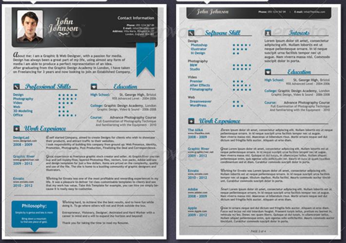 Las 40 Mejores Plantillas Editables para Curriculums Creativos ...