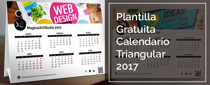 4013221daee65 Plantilla Calendario 2017 Triangular