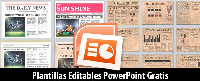 plantillas de periódicos editables en powerpoint gratis magical