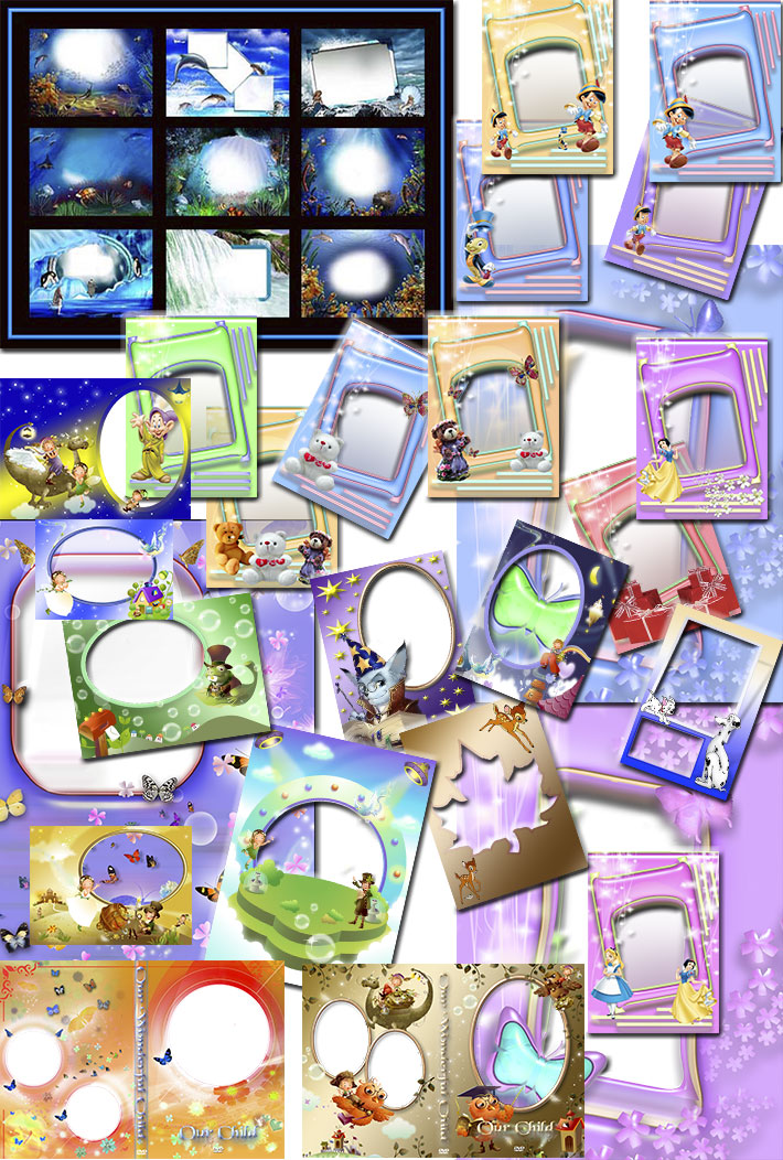34 Plantillas Infantiles Personalizables en Photoshop GRATIS ...