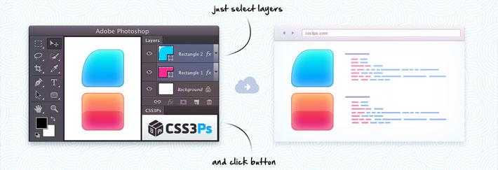 convertir capa photoshop en CSS3