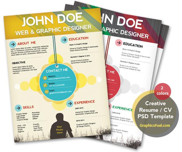 plantilla currículum para diseñador gráfico y web