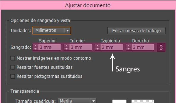 como dar sangres en Adobe Illustrator