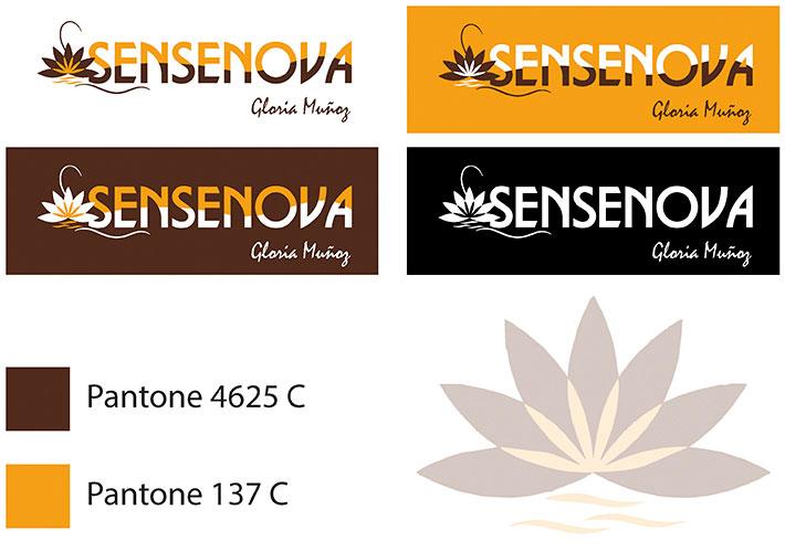 Sensenova diseño corporativo, logotipo, tarjetas de visita